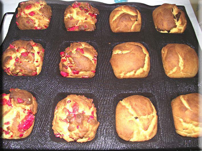 Briochettes coeur chocolat et pralines roses annso-cuisine.fr AnnSo Cuisine