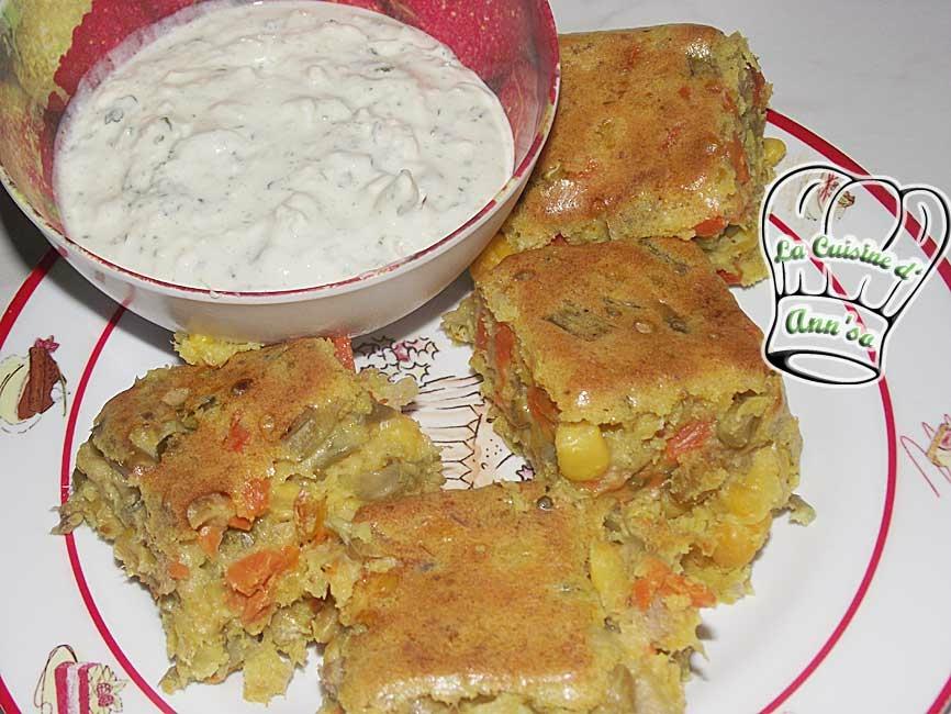 Gâteau de macédoine, maïs, thon au curry - tartare maison annso-cuisine.fr AnnSo Cuisine