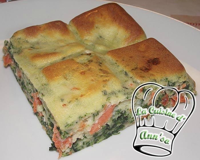 Quiche sans pâte épinards et saumon annso-cuisine.fr AnnSo Cuisine