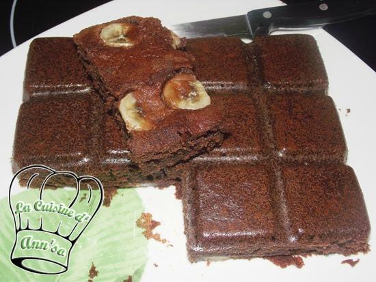 Gâteau rapide au chocolat et à la banane annso-cuisine.fr AnnSo Cuisine