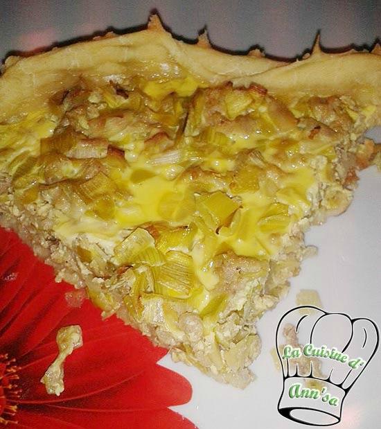 Tarte au thon et aux poireaux annso-cuisine.fr AnnSo Cuisine