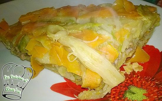 Tatin d'endives, carottes et poireaux à la viande hachée annso-cuisine.fr AnnSo Cuisine