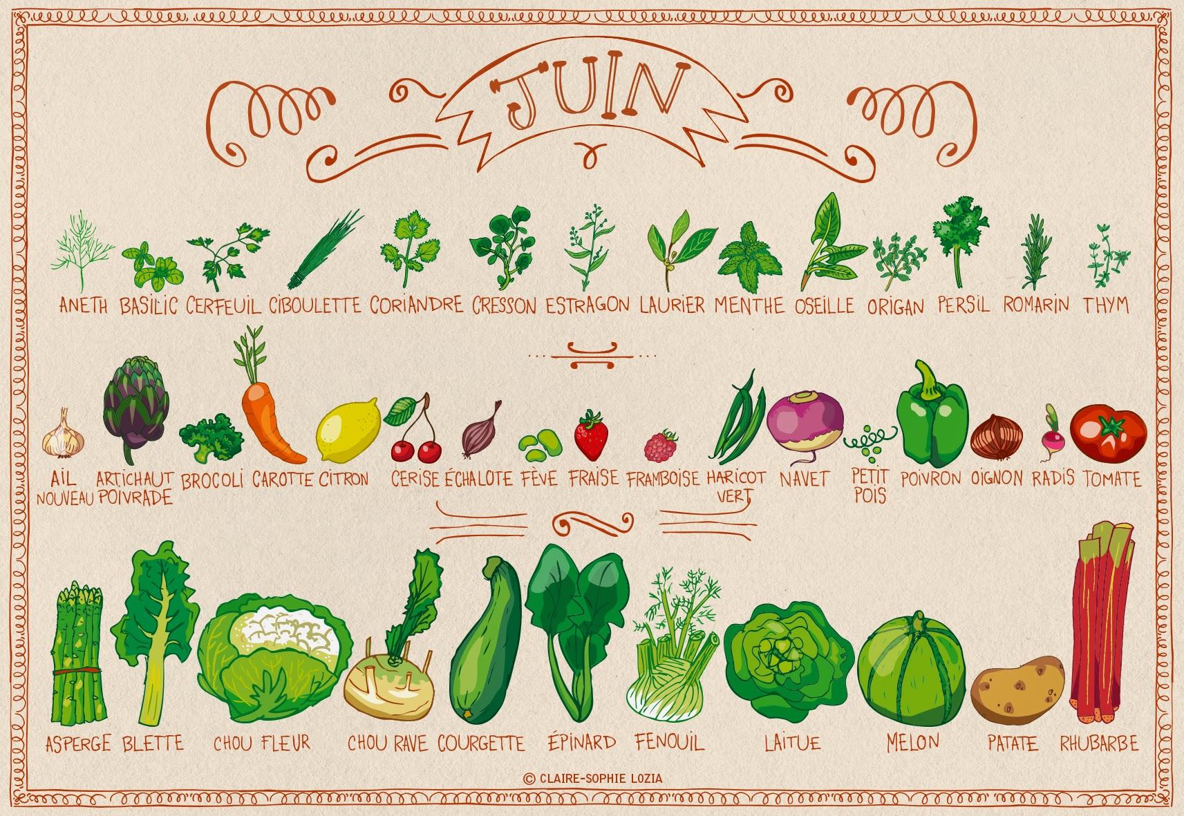 Top Calendrier des fruits et légumes de saison | AnnSo Cuisine & cie JS59