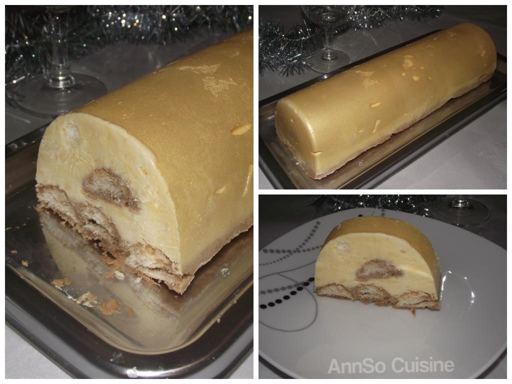 Bûche glacée façon Tiramisu AnnSo Cuisine