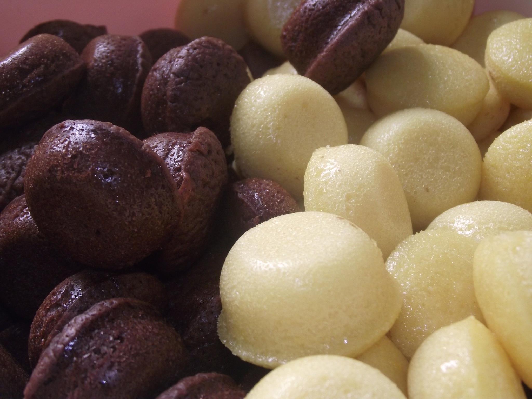 mini g teaux au chocolat et la vanille annso cuisine cie. Black Bedroom Furniture Sets. Home Design Ideas