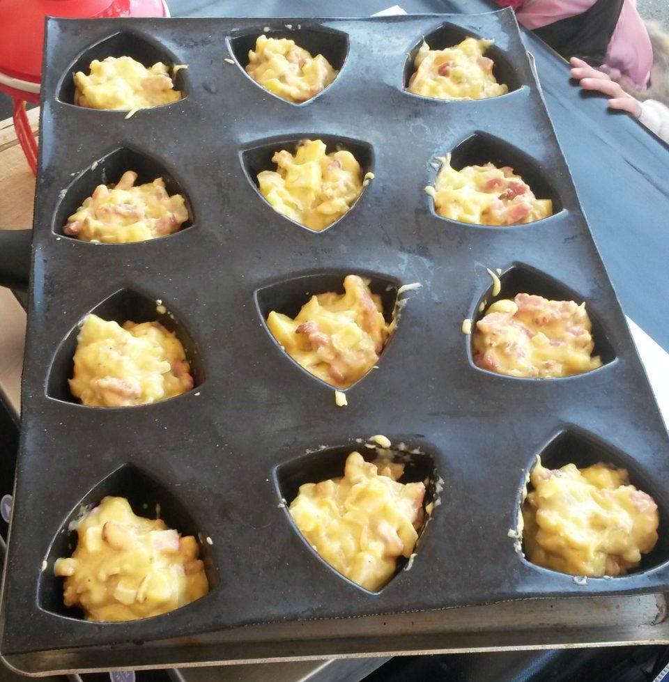 Cake auvergnat au Saint-Nectaire, lardons et noix préparé lors de la démonstration avec France Bleu Pays d'Auvergne à Saint-Nectaire