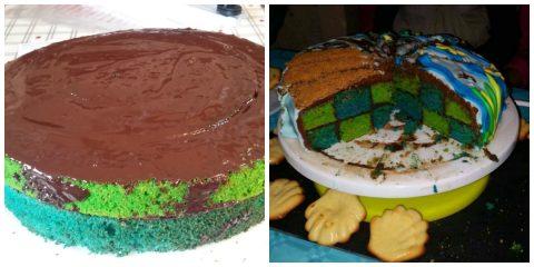 Montage du gâteau Ariel la petite sirène