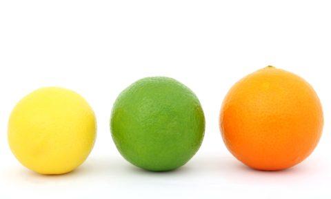 Agrumes : citron, citron vert et orange